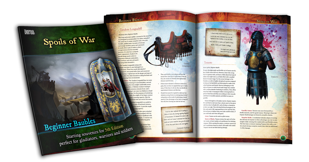 Preview of the cover and interior of Beginner Baubles Spoils of War