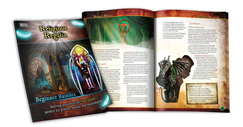 Preview of the cover and interior of Beginner Baubles Religious Regalia