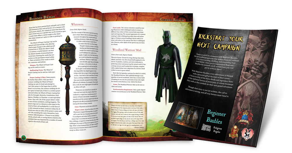 Preview of the interior and rear cover of Beginner Baubles Religious Regalia