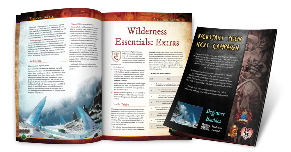 Preview of the interior and rear cover of Beginner Baubles Wilderness Essentials