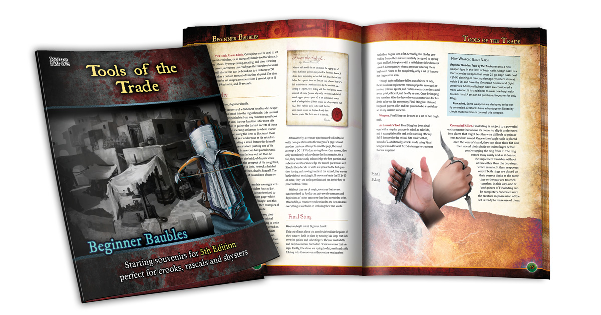 Preview of the cover and interior of Beginner Baubles Tools of the Trade