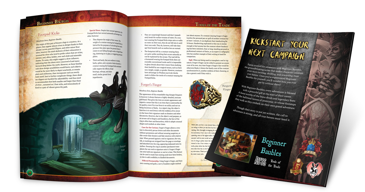 Preview of the interior and rear cover of Beginner Baubles Tools of the Trade